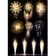 Festive Firework Salute Burst on Black Background - GraphicRiver Item for Sale
