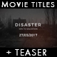 Disaster - Movie Titles + Teaser - VideoHive Item for Sale