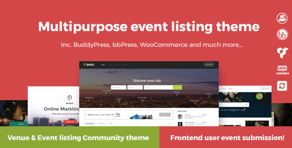 Avent – Multipurpose event listing & city portal theme