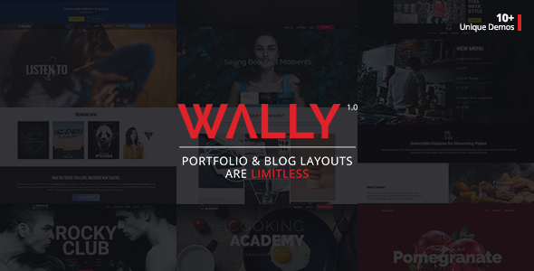 Wally – Creative Portfolio/Blog Multi-Purpose WordPress Theme