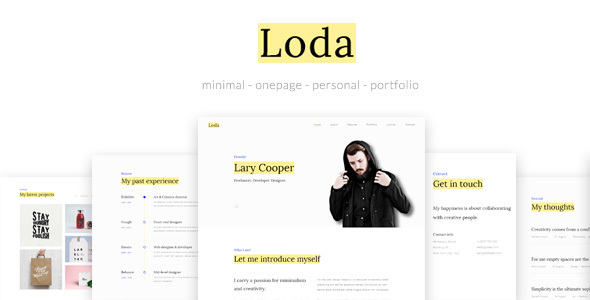 Loda Onepage Personal Portfolio