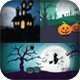 18 Halloween Backgrounds/Cards Landscape - GraphicRiver Item for Sale