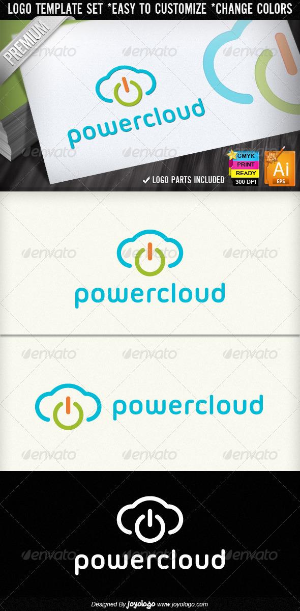 Computer Electronics IT Business Power Cloud Logo - Symbols Logo Templates