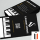 Piano/Musician Business Card - GraphicRiver Item for Sale