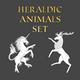 Set of Heraldic Animals - GraphicRiver Item for Sale