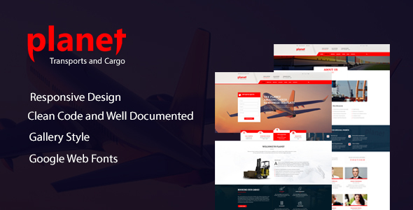 Planet - Responsive Cargo Transport & Logistics Template