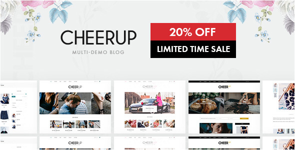 CheerUp Blog / Magazine – WordPress Blog Theme