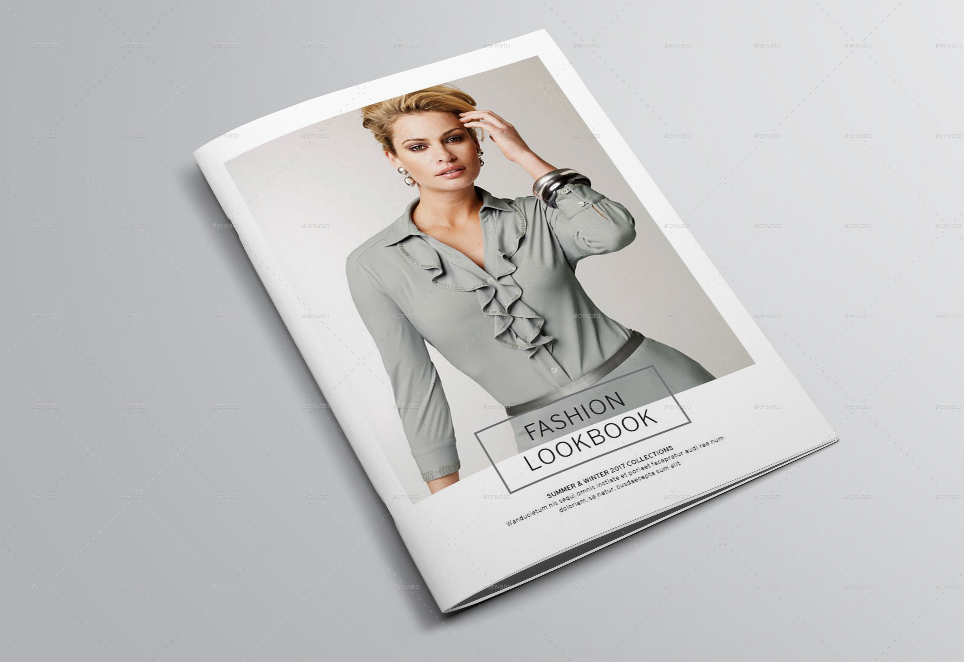Fashion Book Cover Ups : Fashion lookbook template by bookrak graphicriver