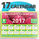 Fresh 0.2 Wall n Desk 2017 Calendar Template - GraphicRiver Item for Sale