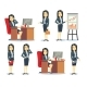 Office Businesswoman in Various Situations - GraphicRiver Item for Sale
