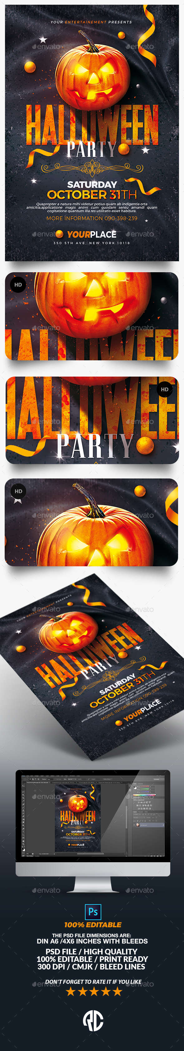 Classy Halloween Party Flyer Template