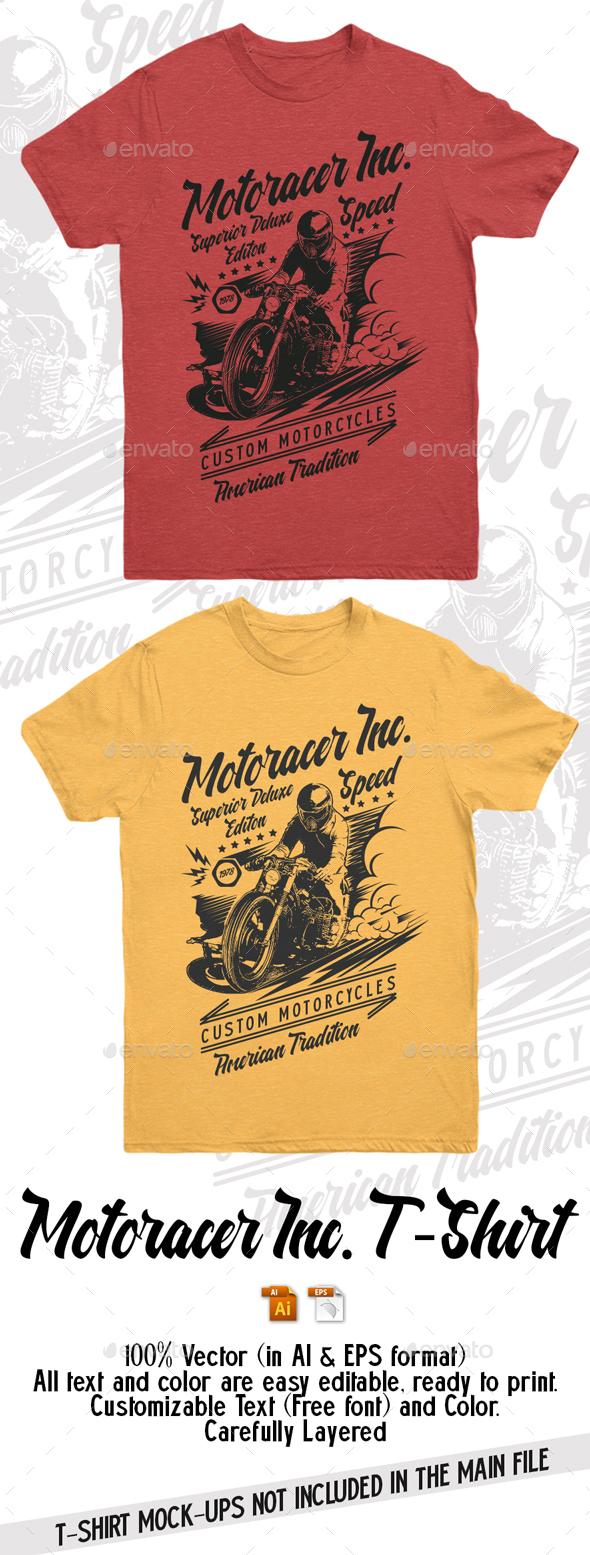 Motoracer Inc T-Shirt - T-Shirts