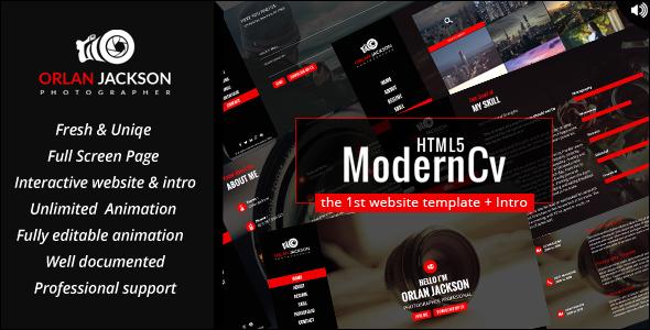 html5 modern cv by on3