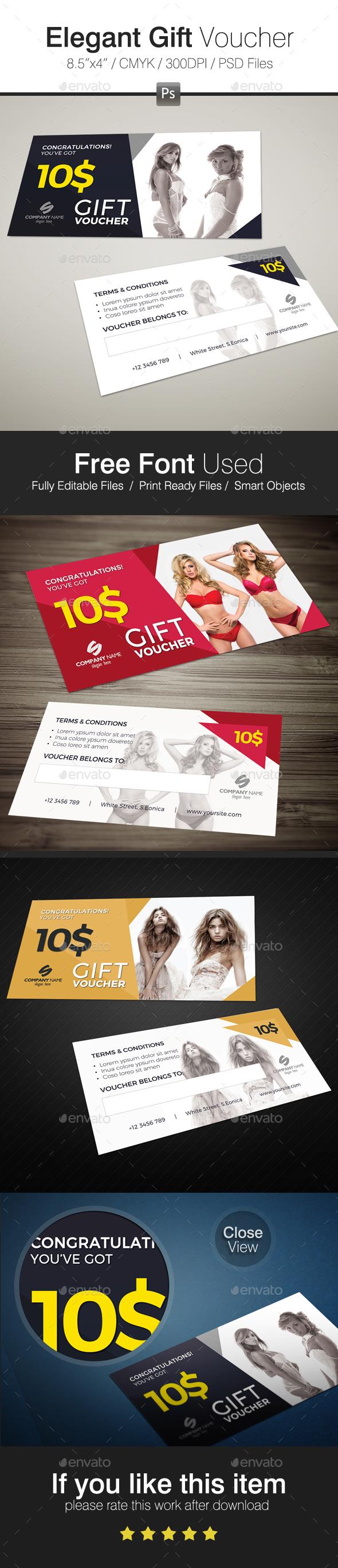 Elegant Gift Voucher - Cards & Invites Print Templates