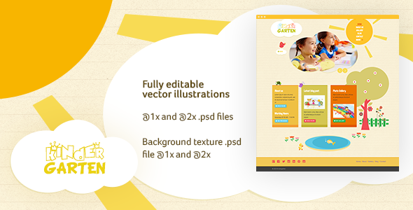 Kindergarten PSD Template nulled