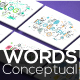 20 Thin Line Conceptual Words Part 2 - GraphicRiver Item for Sale