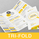 Content Marketing Tri-fold Brochure - GraphicRiver Item for Sale