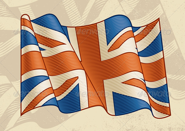 Vintage British Flag - Objects Vectors