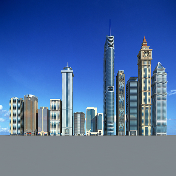 Dubai building - 3DOcean Item for Sale