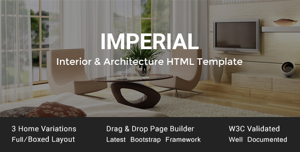 Imperial – Interior & Architecture HTML Template
