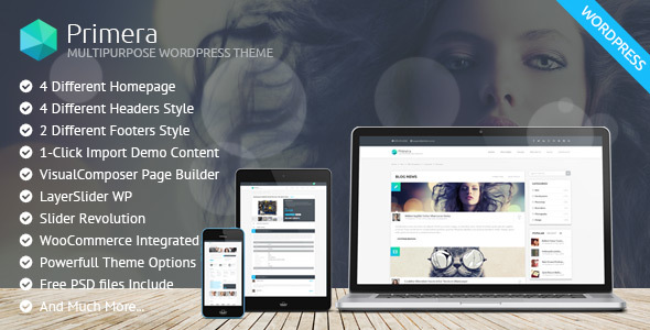 Primera – Corporate Multipurpose WordPress Theme