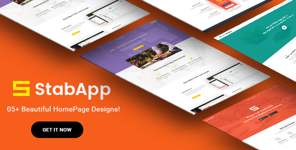 StabApp – App Landing Page –  PSD Template