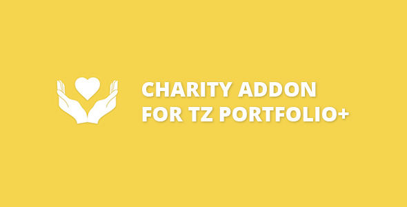 Charity addon for TZ Portfolio+ - CodeCanyon Item for Sale