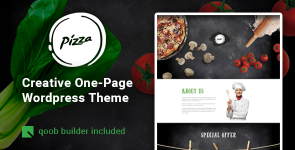 Pizza - Restaurant Cafe WordPress Theme - Restaurants & Cafes Entertainment