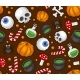 Halloween Seamless Pattern Background With Spider - GraphicRiver Item for Sale