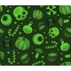 Green Halloween Seamless Pattern Background - GraphicRiver Item for Sale