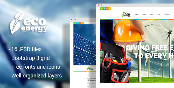 Eco Energy – Ecology & Alternative Energy Company PSD Template