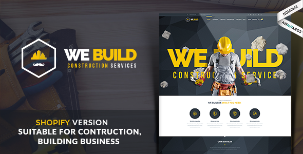 We Build - Construction, Building Shopify Theme - Shopify eCommerce