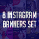 Instagram Banners Set - GraphicRiver Item for Sale