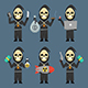 Death Holding Laptop Phone Bomb Weapons Money - GraphicRiver Item for Sale