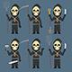 Death Holds Scythe Pitchfork Shovel Knife Wine