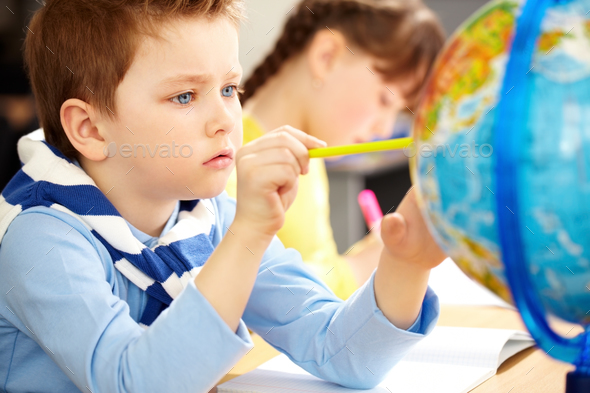 Young geographer - Stock Photo - Images