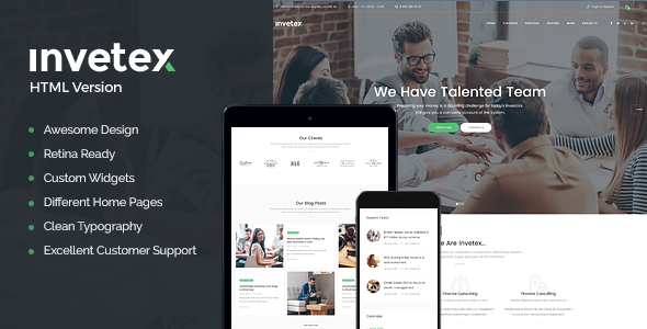 Invetex | Business Consulting & Investments Site Template