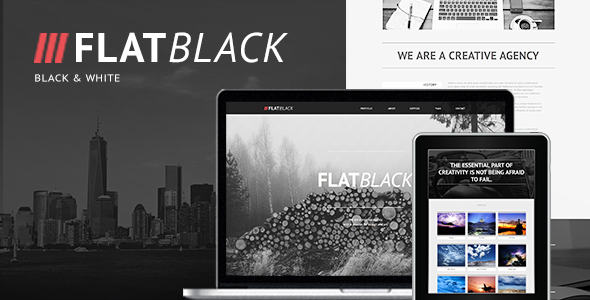 Flatblack - One Page Muse Template - Creative Muse Templates
