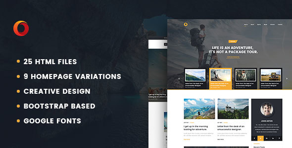 Dot – Personal Blog HTML5 Template - Personal Site Templates