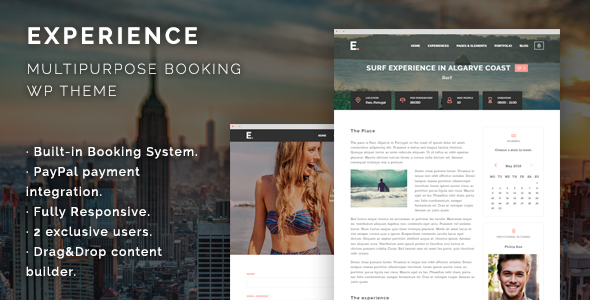 Experience – Multipurpose Booking WordPress Theme