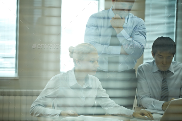 Concentrated people - Stock Photo - Images