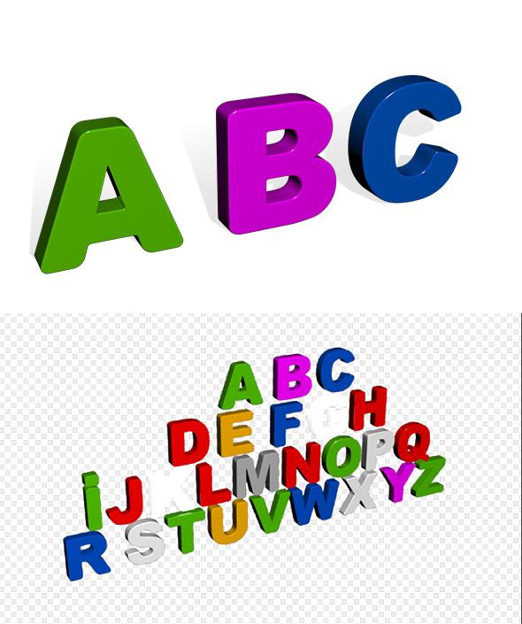 Alphabet - 3DOcean Item for Sale