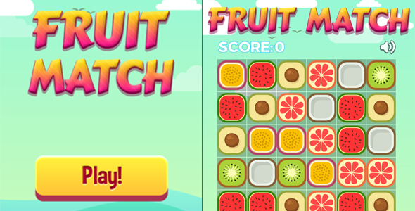 Fruit Match - HTML5 Casual Game by dexterfly | CodeCanyon