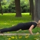 The Girl In Park Doing Yoga - VideoHive Item for Sale