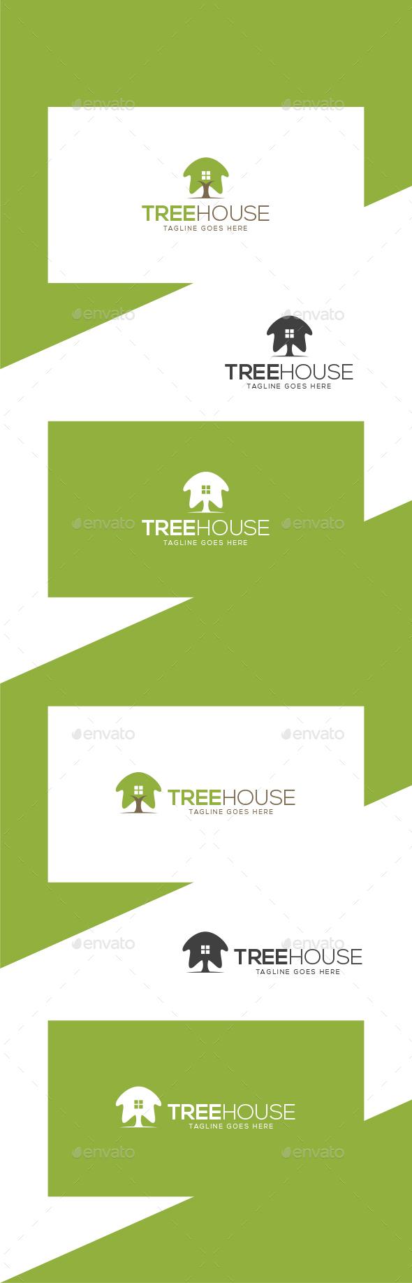 TreeHouse Logo Template - Nature Logo Templates