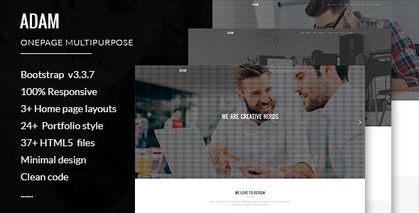 Adam minimalistic multipurpose portfolio template