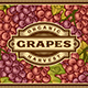 Retro Grapes Harvest Label - GraphicRiver Item for Sale