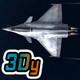 Mobile Low Poly Dassault Rafale - 3DOcean Item for Sale