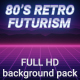80s Retro Futurism Background Pack - VideoHive Item for Sale