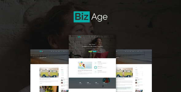 BizAge – One Page PSD Template